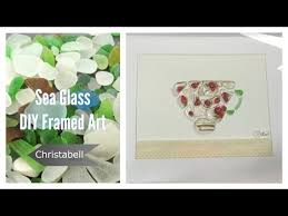 beach glass framed art diy project