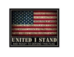 American Flag Pledge Of Allegiance Decal Sticker Etsy