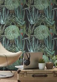 succulentus anthracite wallpaper by