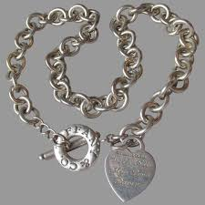 sterling silver heart tag charm