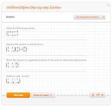 solving systems of linear equations one