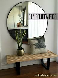 over sized round mirror statement for