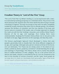 lord of the flies freud essay example