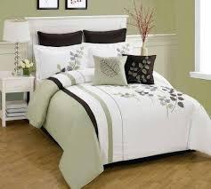 28 delightful brown green comforter set