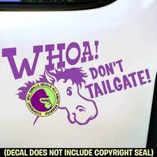 Amazon Com Whoa Don T Tailgate Car Window Bumper Tailgating Vinyl Car Decal Sticker H Handmade