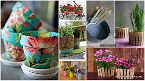 creative diy herbs flower pots for