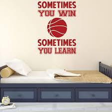 Basketball Wall Decal Motivational Vinyl Decor Wall Decal Customvinyldecor Com