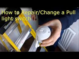 change a pull cord light switch