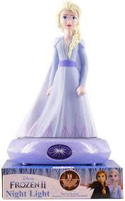 Disney Frozen 2 Elsa Princess Night Light Led Lamp For Kids Room Amazon Com