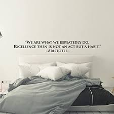 Urbandecal We Are What We Repeatedly Aristotle Quote Customizable Vinyl Decal Wall Sticker Motivational School Greek Habit Success Classic Black 84 Buy Products Online With Ubuy Bahrain In Affordable Prices B07g22cjm2