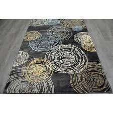 b149 grey circles rug 7x10 ft circle rug