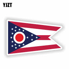 Yjzt 13 9cm 8 5cm Accessories Ohio State Flag Map Flag Funny Motorcycle Helmet Pvc Decal Car Sticker 6 1841 Car Stickers Aliexpress