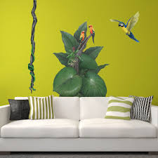 Giant Parrot Wall Sticker Learn How To Create A Jungle Wall Mural