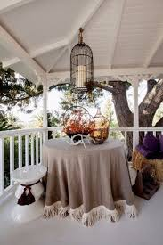 natural tablecloth with fringe trim