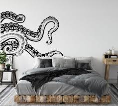 Large Octopus Wall Decal Sticker Kraken Wall Decal Octopus Tentacles Decal Octopus Bathroom Decor Sea Wall Art Decor Octopus Car Decal In 2020 Wall Decals Uk Wall Decals For Bedroom Wall Decals