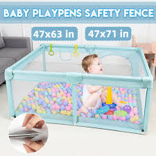 Baby Safety Playpen Fence Kid Play Center Yard Play Pen Indoor Outdoor Home Gam Ebay