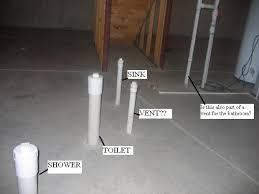 basement bathroom rough in plumbing