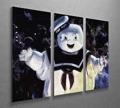 Marshmallow Man From The Ghostbusters 3 Split Panel Canvas Print Canvas Art Rocks