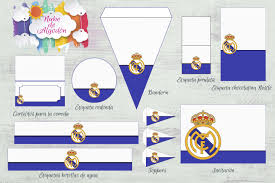 Kit Imprimible Gratuito Real Madrid Imprimibles Real Madrid