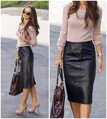 leather skirt you can wear to work