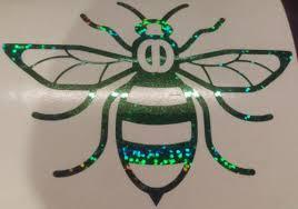 Manchester Bee Car Van Window Sticker Decal Vinyl Glitter Green Archives Midweek Com