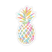 Watercolor Pineapple Sticker Rainbow Colorful Laptop Decal Vinyl Cute Starcove Fashion