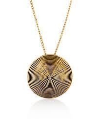 big tree antique gold disc pendant for