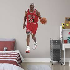 Fathead Michael Jordan Life Size Officially Licensed Nba Removable Wall Decal Walmart Com Walmart Com
