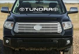 Window Sticker Toyota Tundra Vinyl Graphics Windshield Decal Tundra Lettering Ebay
