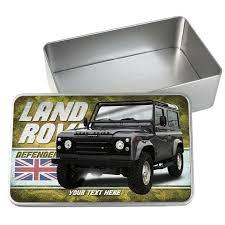 land rover defender car tin