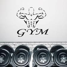 Gym Fitness Logo Muscles Beautiful Body Wall Sticker Vinyl Art Interior Home Decor Window Decals Removable Mural Wallpaper Modern Wall Decal Modern Wall Decals From Joystickers 14 23 Dhgate Com