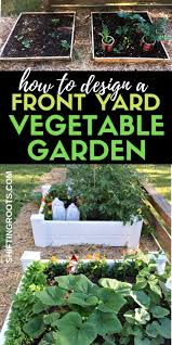 front yard raised bed vegetable garden