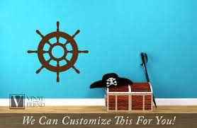 A Helms Wheel Ship Wheel For Navy And Seaman Multiple Sizes A Nautical Theme Wall Decor Vinyl Decal Graphic Sticker Art 2412