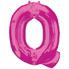 34in Pink Letter Q Balloon | Party City