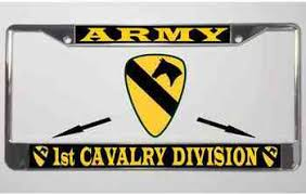 Army 1st Cavalry Division Metal License Plate Frame