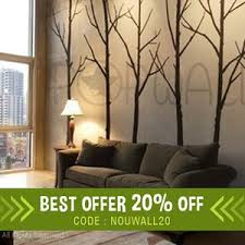 Wall Decal Winter Tree Wall Decal Living Room Bedroom Wall Etsy
