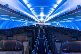 blue airplane lighting has taken over