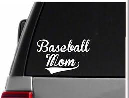 Baseball Mom Decal Yeti Decal Car Decals Vinyl Decals Etsy