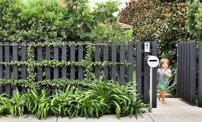 Trend Alert Black Fences Gardenista Fence Design Black Fence Modern Fence