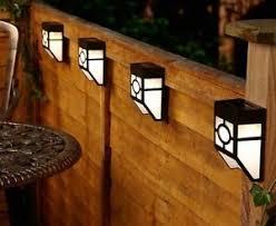 Outdoor Led Solar Powerful Light Wall Mount Garden Path Fence Courtyard Lamp Ebay