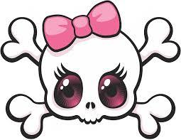 Amazon Com Vinyl Junkie Graphics Pink Bow Skull Sticker Decal Automotive