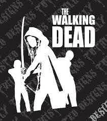 Michonne With Walkers The Walking Dead Vinyl Car Truck Decal Sticker Rick Daryl Ebay