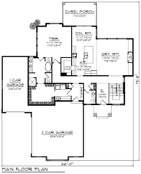 modern style house plan 75464 with 2777