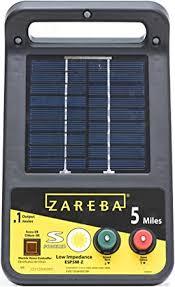 Amazon Com Zareba Esp5m Z 5 Mile Solar Low Impedance Electric Fence Charger Black Outdoor Decorative Fences Garden Outdoor