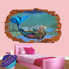 Mermaid Tropical Fish Seabed Wall Stickers 3d Art Poster Mural Decal Decor Vb2 Ebay