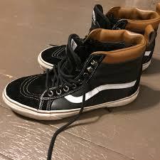 vans shoes mte black and brown