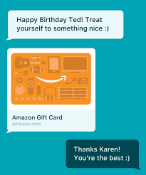 amazon gift cards via text message