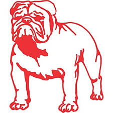 Amazon Com Barking Sand Designs Bulldog Red Die Cut Vinyl Window Decal Sticker For Car Truck Automotive