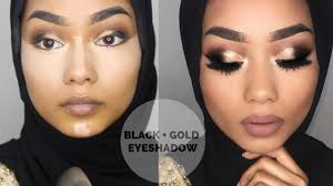 eid makeup tutorial black and gold