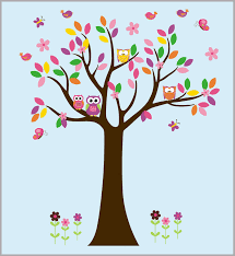 Tree Wall Sticker Tree Wall Decals Forest Wall Decal Colorful Nurserydecals4you